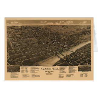 Waco Tejas en 1886 Tarjeta De Felicitación