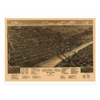 Waco Tejas en 1886 Tarjetas Postales
