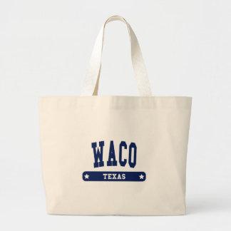 Waco Texas College Style tee shirts Canvas Bags