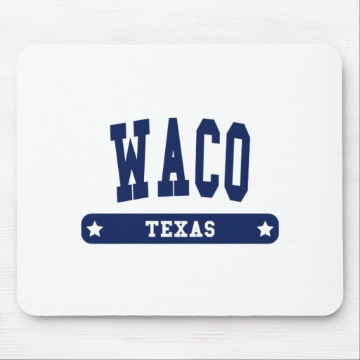 Waco Texas College Style tee shirts Mouse Pad