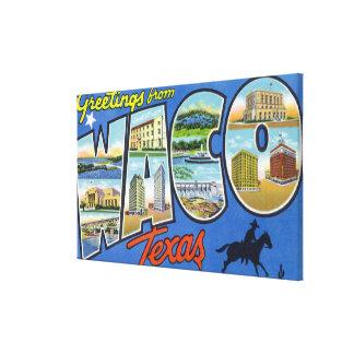 Waco TexasLarge Letter ScenesWaco TX 2 Canvas Print