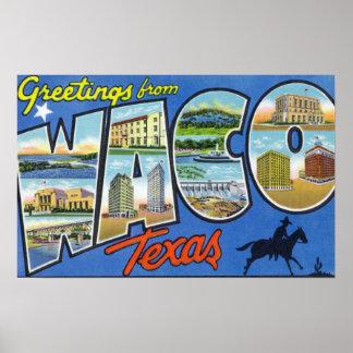 Waco TexasLarge Letter ScenesWaco TX 2 Print