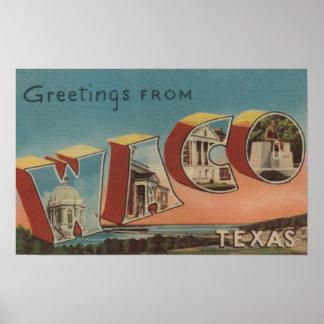 Waco TexasLarge Letter ScenesWaco TX Print