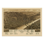 Waco, TX Panoramic Map - 1886 Print