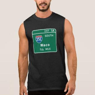 Waco, TX Road Sign Sleeveless Tee