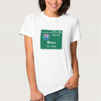 Waco, TX Road Sign T-shirt
