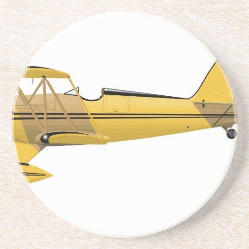 Waco YMF-5 Super 14018 Drink Coaster
