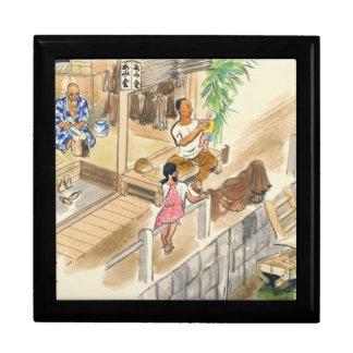 Wada Japanese Vocations In Pictures Funayado Sanzo Keepsake Boxes