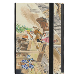 Wada Japanese Vocations In Pictures Funayado Sanzo Case For iPad Mini