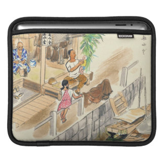 Wada Japanese Vocations In Pictures Funayado Sanzo Sleeve For iPads