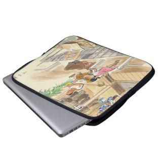Wada Japanese Vocations In Pictures Funayado Sanzo Laptop Sleeves