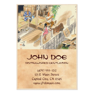 Wada Japanese Vocations In Pictures Funayado Sanzo Large Business Card