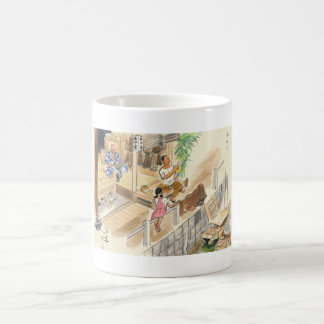 Wada Japanese Vocations In Pictures Funayado Sanzo Classic White Coffee Mug