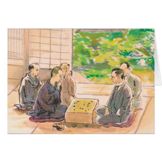 Wada Sanzo Playing Go ukiyo-e japanese fine art Greeting Cards