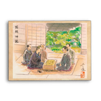 Wada Sanzo Playing Go ukiyo-e japanese fine art Envelope