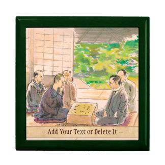 Wada Sanzo Playing Go ukiyo-e japanese fine art Gift Boxes