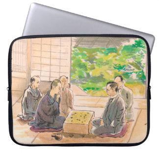 Wada Sanzo Playing Go ukiyo-e japanese fine art Laptop Sleeve