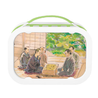 Wada Sanzo Playing Go ukiyo-e japanese fine art Lunch Box