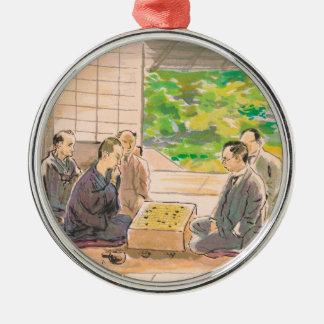 Wada Sanzo Playing Go ukiyo-e japanese fine art Christmas Ornaments