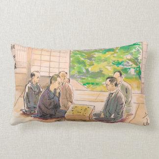 Wada Sanzo Playing Go ukiyo-e japanese fine art Throw Pillows