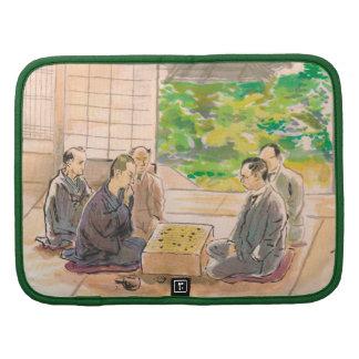 Wada Sanzo Playing Go ukiyo-e japanese fine art Folio Planners