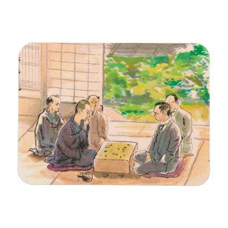Wada Sanzo Playing Go ukiyo-e japanese fine art Vinyl Magnets