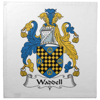 Waddell Family Crest Cloth Napkin