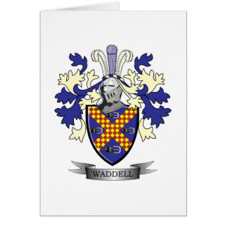 Waddell Family Crest Coat of Arms Card