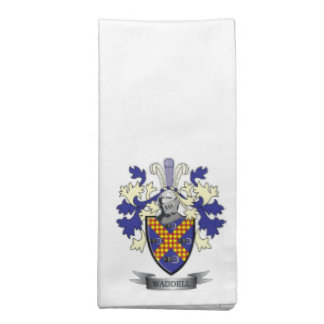 Waddell Family Crest Coat of Arms Napkin