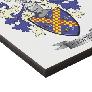 Waddell Family Crest Coat of Arms Panel Wall Art