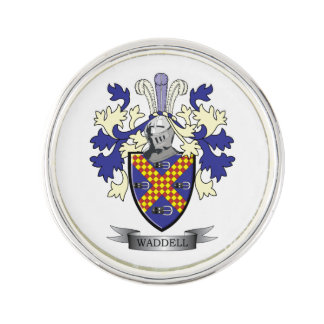 Waddell Family Crest Coat of Arms Pin