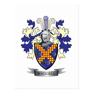 Waddell Family Crest Coat of Arms Postcard