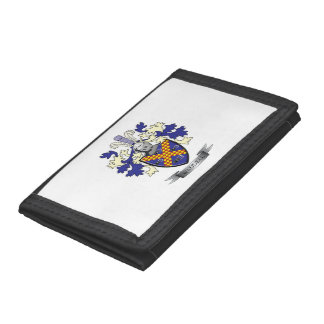 Waddell Family Crest Coat of Arms Trifold Wallets