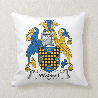 Waddell Family Crest Throw Pillow