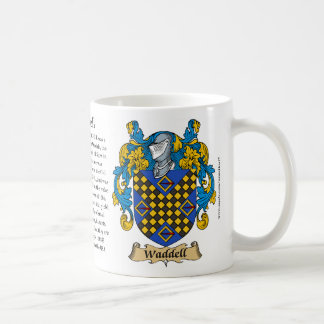 Waddell, the Origin, the Meaning and the Crest Mug