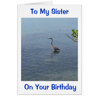 WADDING TO SEND MY SIS THIS BIRTHDAY WISH CARD