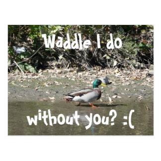 Waddle I do, without you? :( Postcard