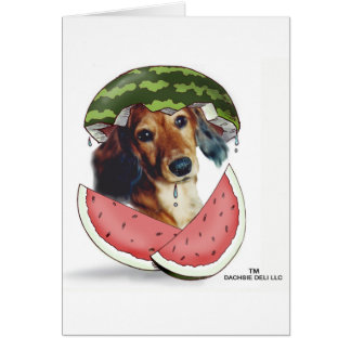 Waddleful Watermelon Greeting Card