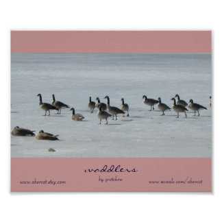 Waddlers by gretchen Poster