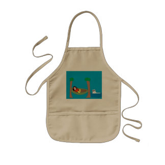 Waddles and Polar Bear Chilling Kids' Apron