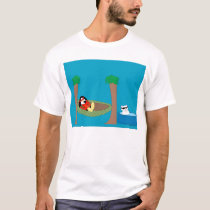 Waddles and Polar Bear Chilling T-Shirt