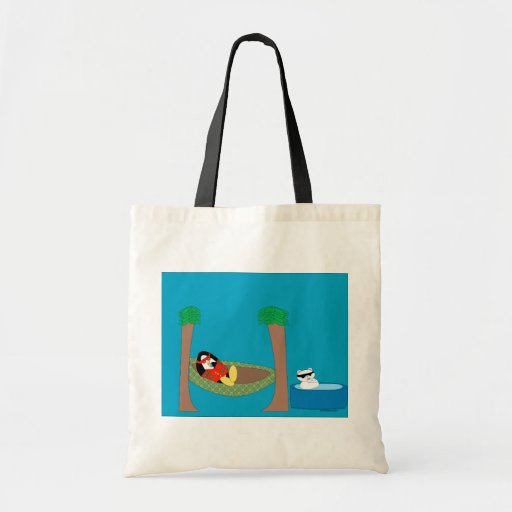 Waddles and Polar Bear Chilling Tote Bag