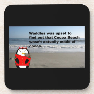 Waddles at Cocoa Beach Beverage Coaster