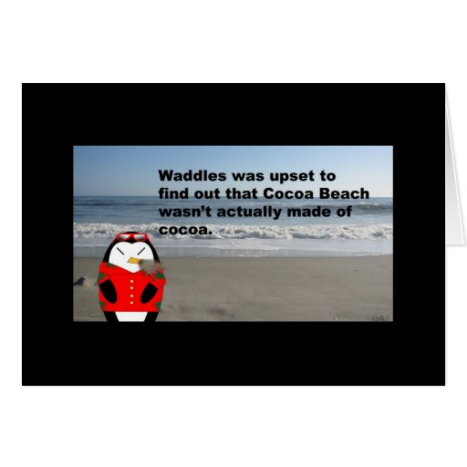 Waddles at Cocoa Beach Card