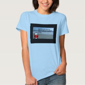 Waddles at Cocoa Beach Ladies Babydoll T-shirt