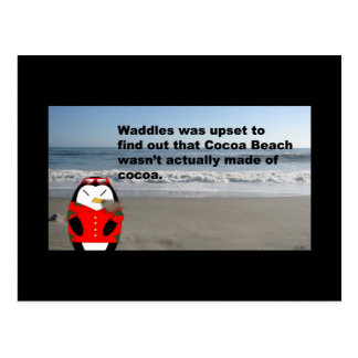 Waddles at Cocoa Beach Post Card