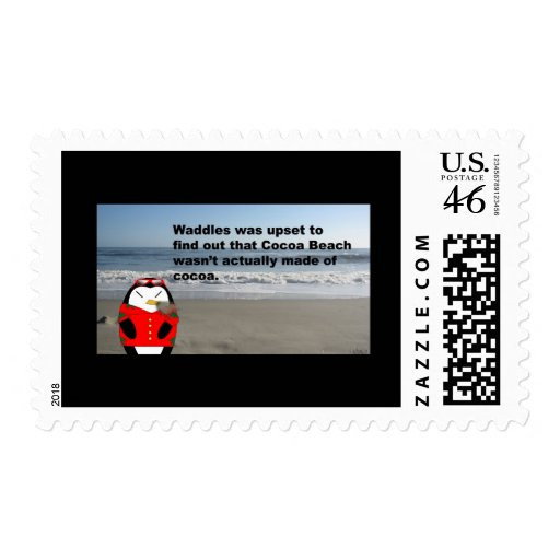 Waddles at Cocoa Beach Postage Stamp