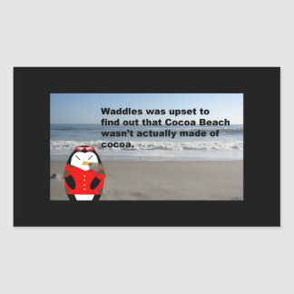 Waddles at Cocoa Beach Sticker