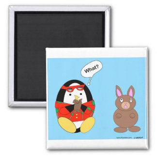 Waddles' Chocolate Bunny Magnet