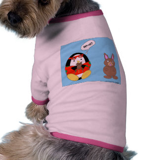 Waddles chocolate Easter Bunny Dog Outfit Doggie Shirt